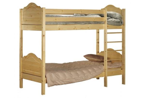 """Кровать """"Кая-2"""" двухъярусная  (бесцветный лак) • Кровати - Двухьярусные"""