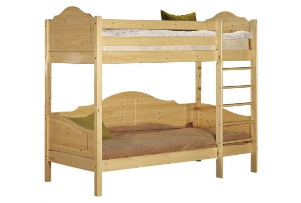 """Кровать """"Кая-3"""" двухъярусная  (бесцветный лак) • Кровати - Двухьярусные"""