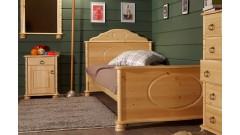 """Кровать """"Айно"""" детская (бесцветный лак) • Детские кровати"""