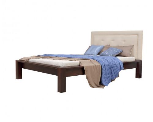 """Кровать """"Брамминг-2"""" мягкая (бесцветный лак)"""