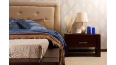 """Кровать """"Брамминг-2"""" мягкая (бесцветный лак) • Кровати"""