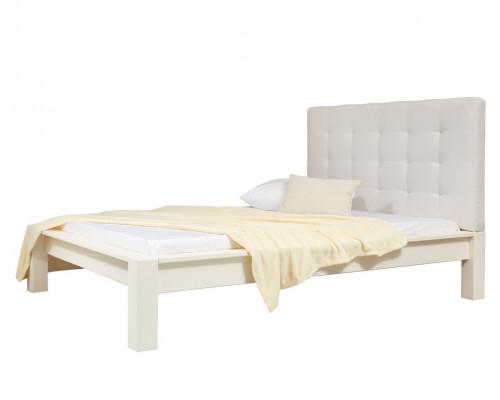 """Кровать """"Брамминг-3"""" мягкая (бесцветный лак)"""