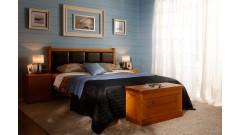 """Кровать """"Дания-1/1"""" мягкая (бесцветный лак) • Кровати"""