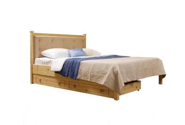"""Кровать """"Дания-1/1"""" мягкая, с ящиками (тонировка) • Кровати"""