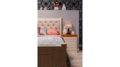 """Кровать """"Дания-1"""" мягкая (бесцветный лак) • Кровати"""
