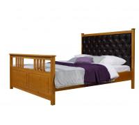 """Кровать """"Дания-2"""" мягкая (бесцветный лак)"""