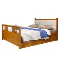 """Кровать """"Дания-3"""" мягкая (новые эмали) с ящиками"""
