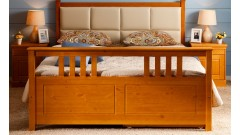 """Кровать """"Дания-3"""" мягкая, с ящиками (бесцветный лак) • Кровати"""