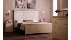 """Кровать """"Дания-4"""" мягкая, с ящиками (бесцветный лак) • Кровати"""
