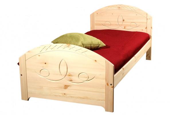 """Кровать """"Элина"""" детская (бесцветный лак) • Детские кровати"""
