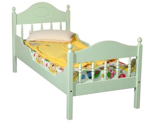 """Кровать """"Фрея-2"""" детская, с фигурными бортиками (бесцветный лак)"""
