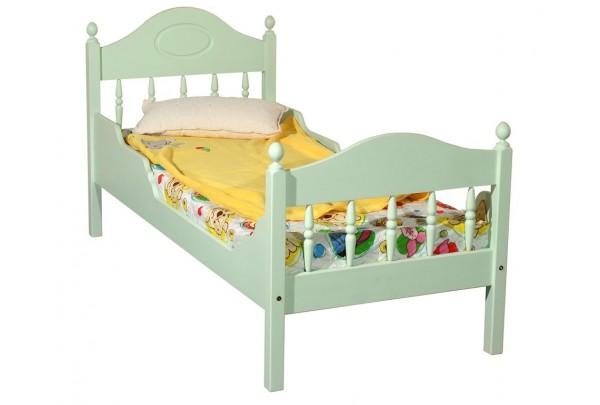 """Кровать """"Фрея-2"""" детская, с фигурными бортиками (бесцветный лак) • Детские кровати"""