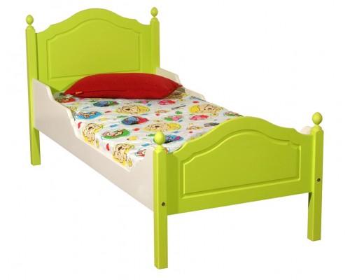 """Кровать """"Кая-2"""" детская, с фигурными бортиками (бесцветный лак)"""