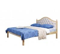 """Кровать """"Кая-1"""" мягкая (бесцветный лак)"""