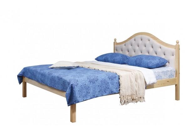 """Кровать """"Кая-1"""" мягкая (бесцветный лак) • Кровати"""