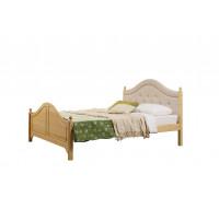 """Кровать """"Кая-2"""" мягкая (бесцветный лак)"""