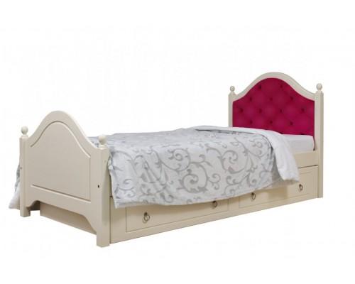 """Кровать """"Кая-2"""" мягкая,с ящиками (тонировка)"""