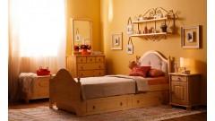 """Кровать """"Кая-2"""" мягкая, с ящиками (бесцветный лак) • Детские кровати"""
