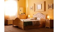 """Кровать """"Кая-2"""" мягкая, с ящиками (бесцветный лак) • Кровати"""