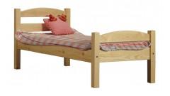 """Кровать """"Классик"""" детская, спинки дуга (бесцветный лак) • Детские кровати"""