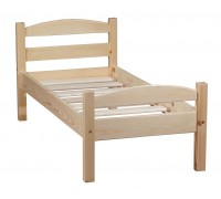 """Кровать """"Классик"""" детская, спинки дуга (бесцветный лак)"""