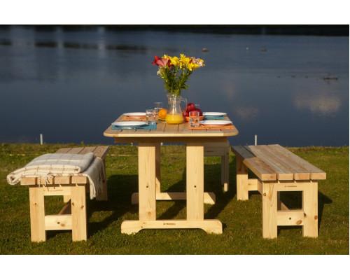 Дачный комплект Стол с лавками