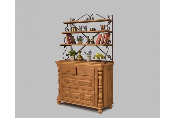 Комод Валенсия 2-27 с кованой граверсой • Мебель «ВАЛЕНСИЯ»
