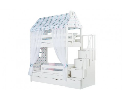 Кровать-домик двухъярусная Тимберика Кидс № 18