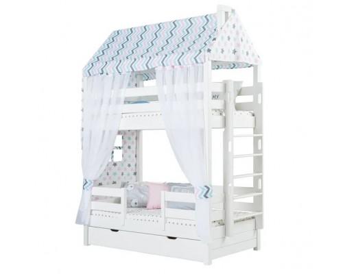 Кровать-домик двухъярусная Тимберика Кидс № 16