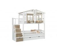 Кровать-домик двухъярусная Тимберика Кидс №21