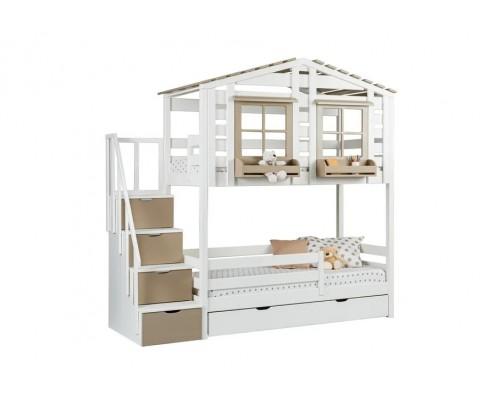 Кровать-домик двухъярусная Тимберика Кидс № 21
