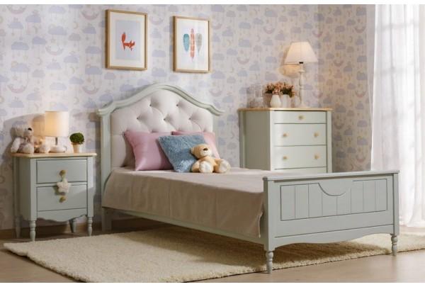 Кровать детская Айно № 17 с ортопедическим матрасом Элли • Детские кровати