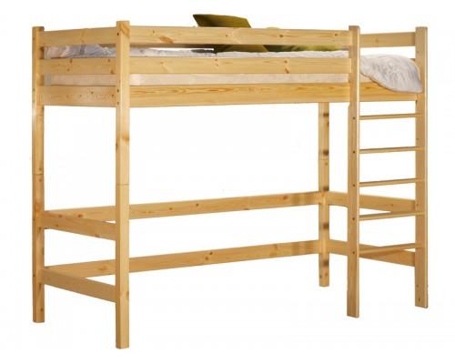 Кровать-чердак Классик, 700х1500 (бесцветный лак)