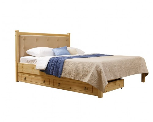 Кровать 2-спальная Дания №1/1 мягкая, с ящиками