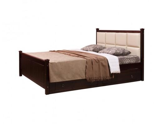Кровать 2-спальная Дания №1 мягкая, с ящиками