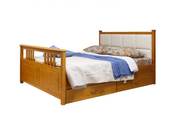 Кровать Дания № 3 мягкая, с ящиками • Кровати