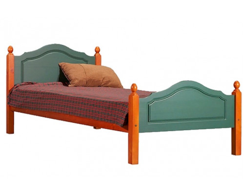 Кровать Кая-2, 900х1900 (зеленая/вишня)