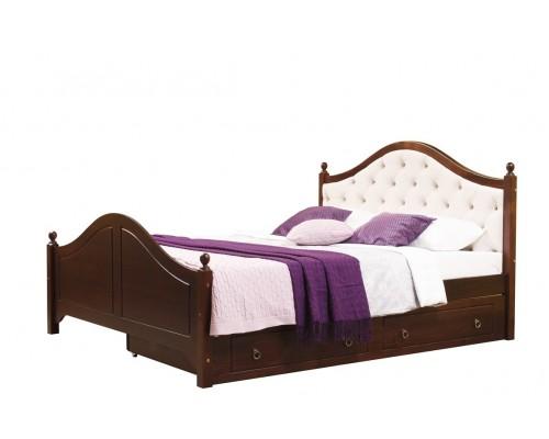 Кровать 2-спальная Кая № 2 мягкая,с ящиками