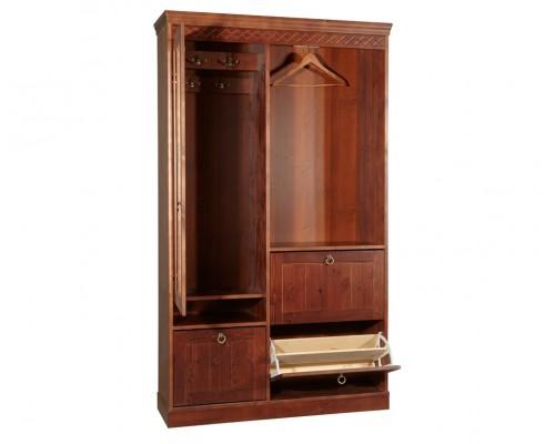 Шкаф Дания для прихожей, комбинированный (ратэ светлый)
